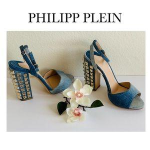 PHILIPP PLEIN a HIGH HEEL SANDALS STUDDED